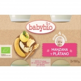 Babybio apple & banana babyfood 2 x 130g
