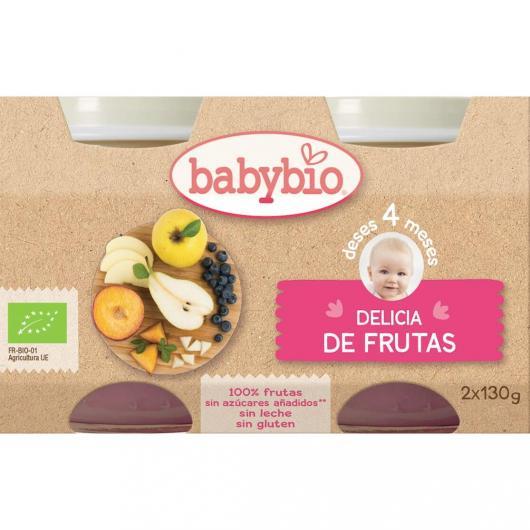 Potito Delicia de Frutas Babybio, 2 x 130 g