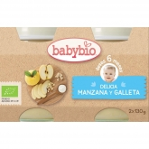 Babybio apple & biscuit delight 2 x 130g