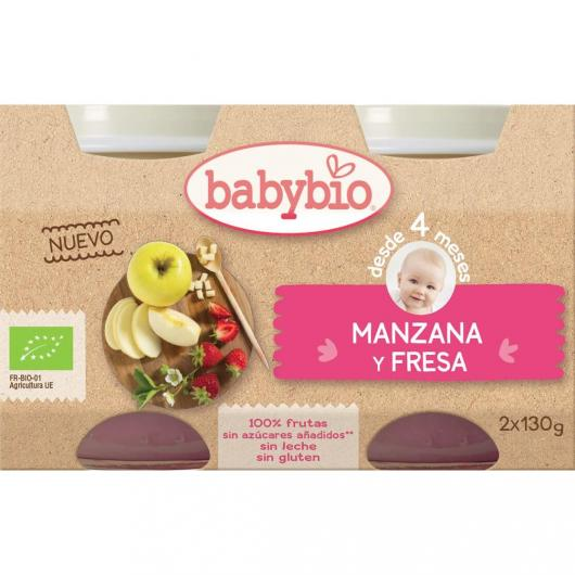 Omogeneizzato Mela e Fragola babybio, 2 x 130 g