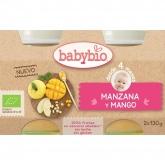 Potito Manzana Mango Babybio, 2 x 130 g
