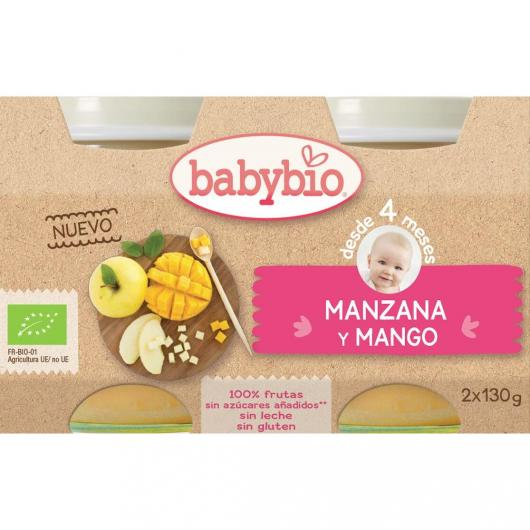 Omogeneizzato Mela Mango Babybio, 2 x 130 g