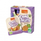 Gourde Cool Fruits Pomme-Mangue-Ananas Vitabio, 4 x 90 g