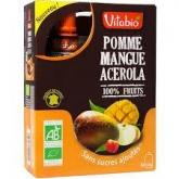 Adultos Manzana Mango Acerola Vitabio, 4 x 120 g