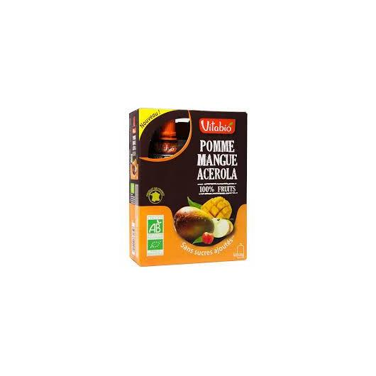 Gourde Pomme-Mangue-Acérola Vitabio, 4 x 120 g