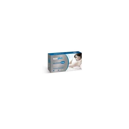 Melatonina 1 mg con Magnesio y Vitamina B3 Epaplus, 30 cápsulas