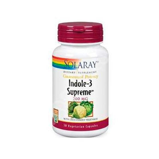 Indole-3 Supreme 200 mg Solaray, 30 capsules végétales