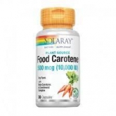 Food Carotene Solaray, 50 perlas