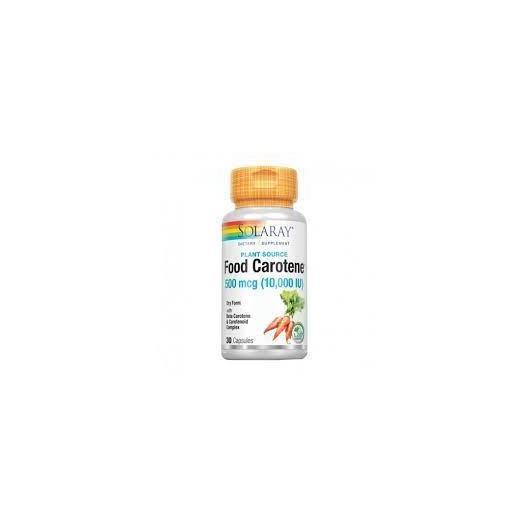 Food Carotene Solaray, 50 softgels