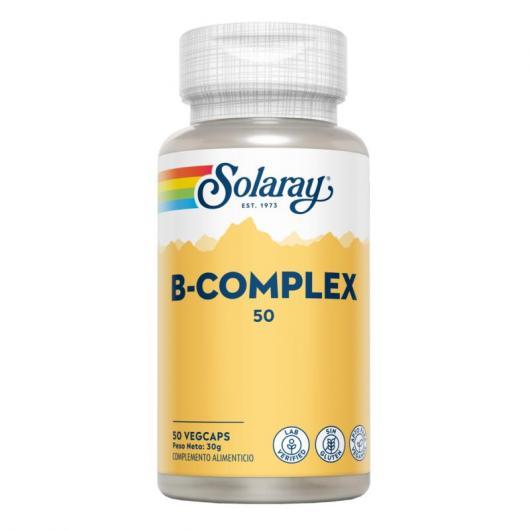 Vitamina B50 Complex Solaray, 50 cápsulas