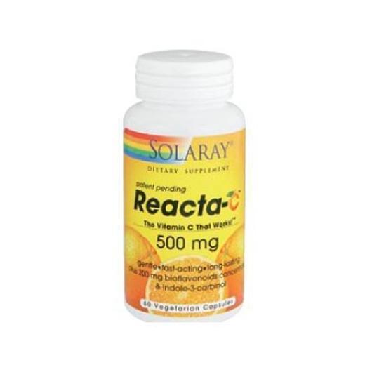 Reacta-C 500 mg Solaray, 60 capsules