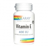 Vitamina E 400 UI Solaray, 50 perle