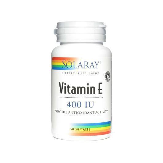 Vitamina E 400 UI Solaray, 50 perle