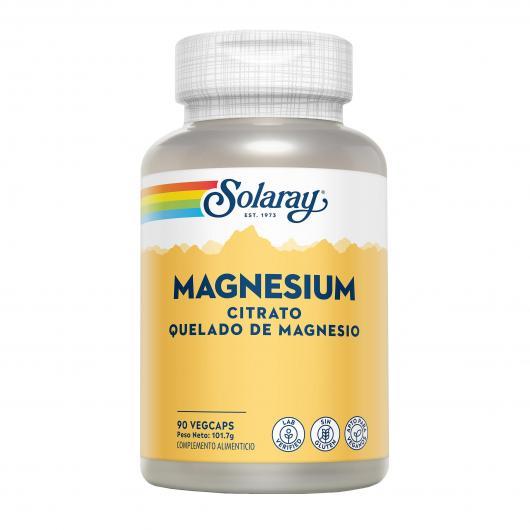 Magnesio Solaray, 90 cápsulas