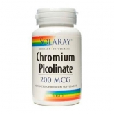 Picolinate de chrome 200 mg Solaray, 50 comprimés
