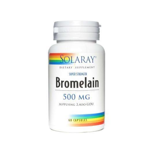 Bromelaina Solaray, 60 cápsulas