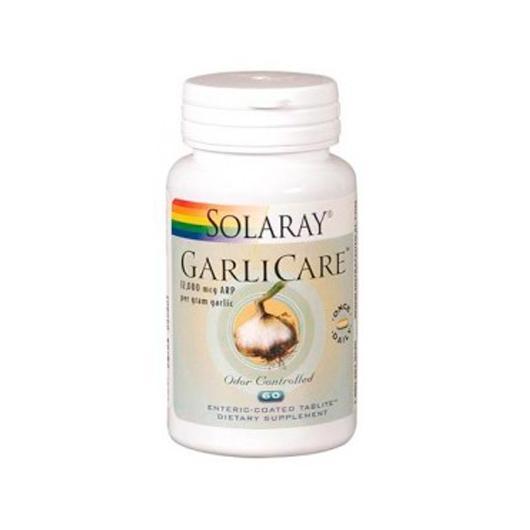 Garlicare 10000 Mcg Solaray, 60 comprimidos