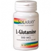 L-Glutamina 500 mg Solaray, 50 capsule