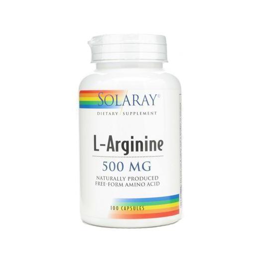 Arginina 500 mg Solaray, 100 capsule