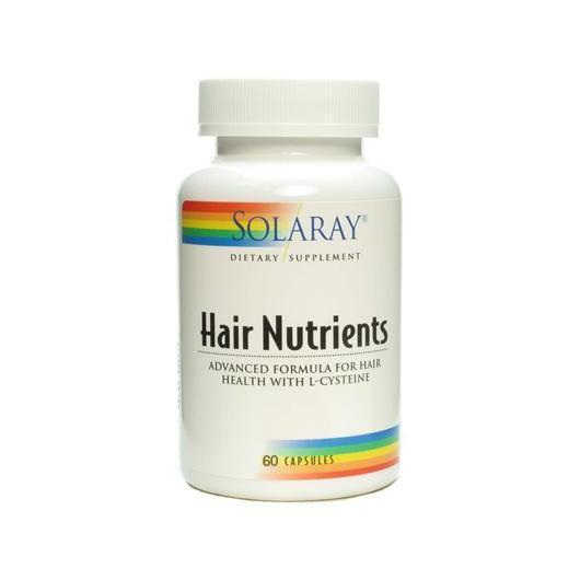 Eléments nutritifs cheveux (Hair nutrients) Solaray, 60 capsules