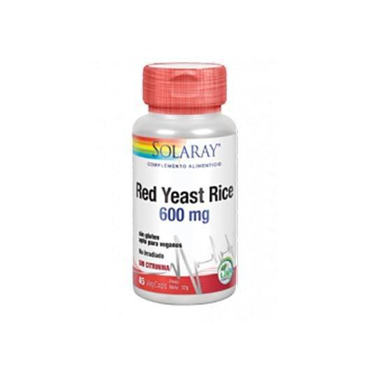 Red Yeast Rice Solaray, 45 cápsulas