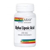 Acide alpha-lipoïque 250 mg Solaray, 60 capsules