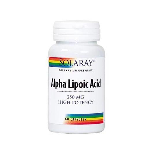 Acido Alfa Lipoico Solaray, 250 mg