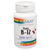 Vitamine B12 2000 mcg Solaray, 90 comprimés sublinguaux