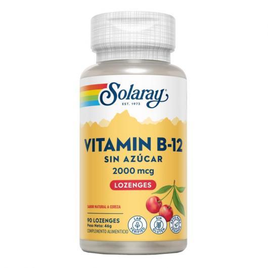 Vitamine B12 2000 mcg Solaray, 90 comprimés sublinguaux