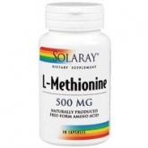 Metionina 500 mg Solaray, 30 capsule