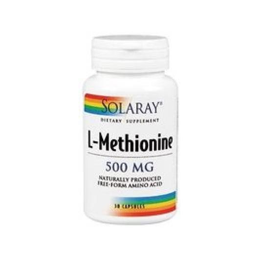 Metionina 500 mg Solaray, 30 capsule