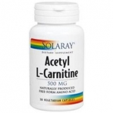 Acetil L-Carnitina 500 mg Solaray, 30 capsule
