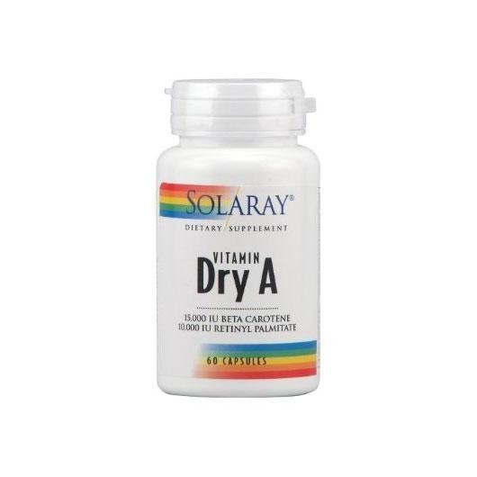 Vitamina A Emulsied Dry Solaray, 60 capsule