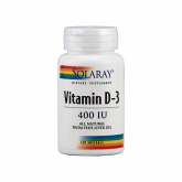 Vitamine D3 400 UI Solaray, 120 softgels