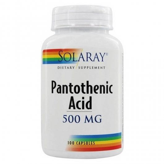 Acide pantothénique 500 mg Solaray, 100 capsules