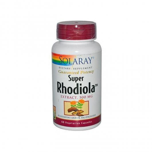 Rodiola 500 mg Solaray, 60 cápsulas