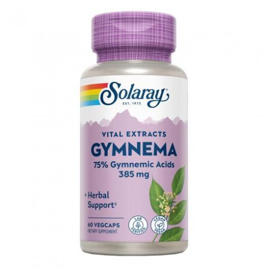 Gymnema 385 mg Solaray, 60 cápsulas