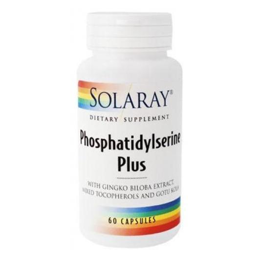 Fosfatifil Serina Plus Solaray, 60 capsule