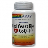 Red Yeast Rice Plus Q10 Solaray, 60 capsule