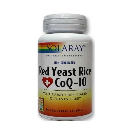 Red Yeast Rice Plus Q10 Solaray, 60 cápsulas