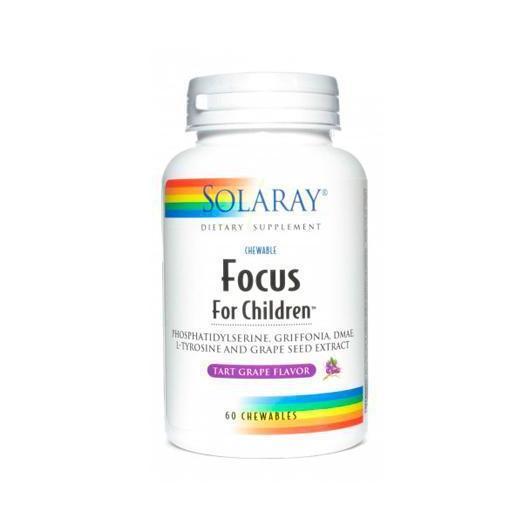Focus For Children Solaray, 60 comprimidos
