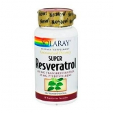 Super resvératrol 250 mg Solaray, 30 capsules