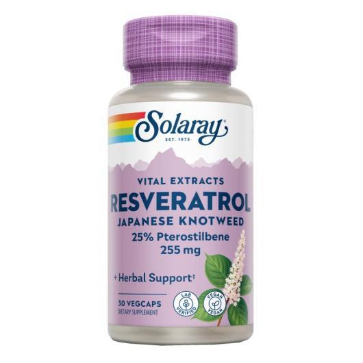 Super Resveratrol 250 mg Solaray, 30 cápsulas