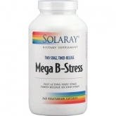 Mega B Stress Solaray, 60 cápsulas