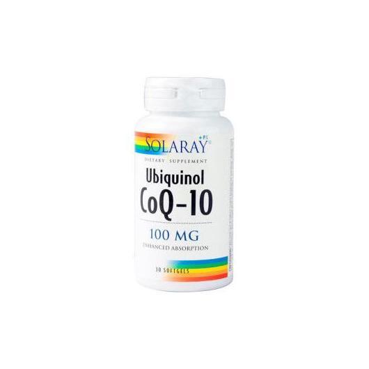 Coenzima Q10 Ubiquinol 100 mg Solaray, 30 cápsulas