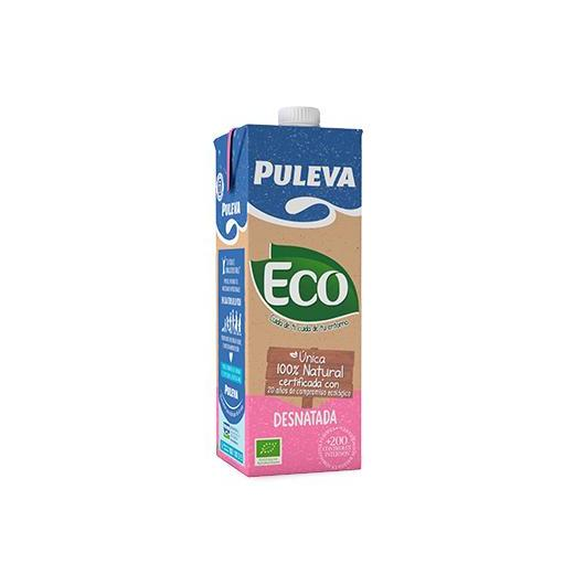 Leche Desnatada ecológica Puleva, 1 L