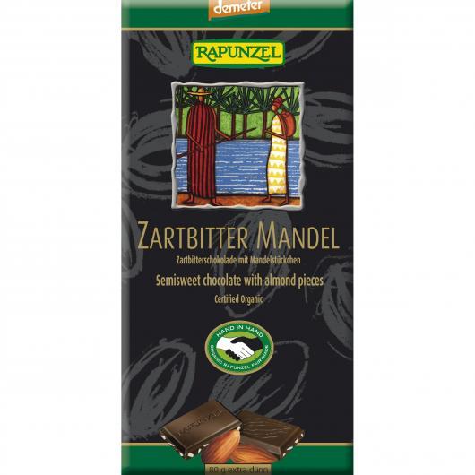 Cioccoloato fondente con Mandorle Rapunzel 80g