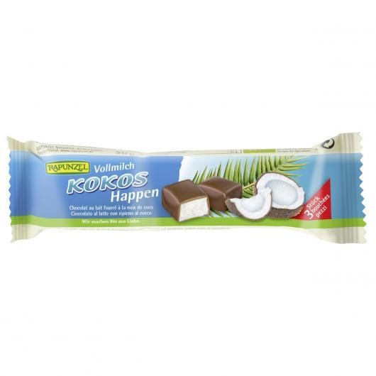 Barre de chocolat au lait fourré à la noix de coco Rapunzel, 50 g