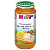 Omogeneizzato Biologico menú Fideos Pomodoro e Merluzzo 12 M Hipp, 250 g