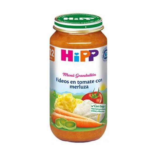 Potito Biológico menú Fideos Tomate y Merluza 12 M HiPP, 250 g